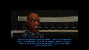 SW KotOR Jedi Master Dorak tells us the Jedi Code
