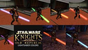 Star Wars KotOR Lightsaber Colors