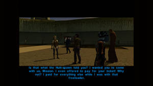 SW KotOR Lena tells what happen to Griff and her