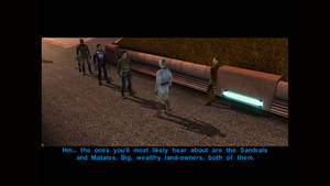 SW KotOR There are Mandalorians robbing farmers