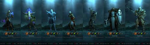 Diablo III Male Heroes by SPARTAN22294
