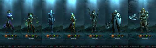 Diablo III Female Heroes by SPARTAN22294