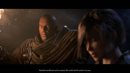 Diablo III Tyrael telling Leah what Cain sacrifice by SPARTAN22294