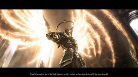 Diablo III Imperius judging Tyrael by SPARTAN22294