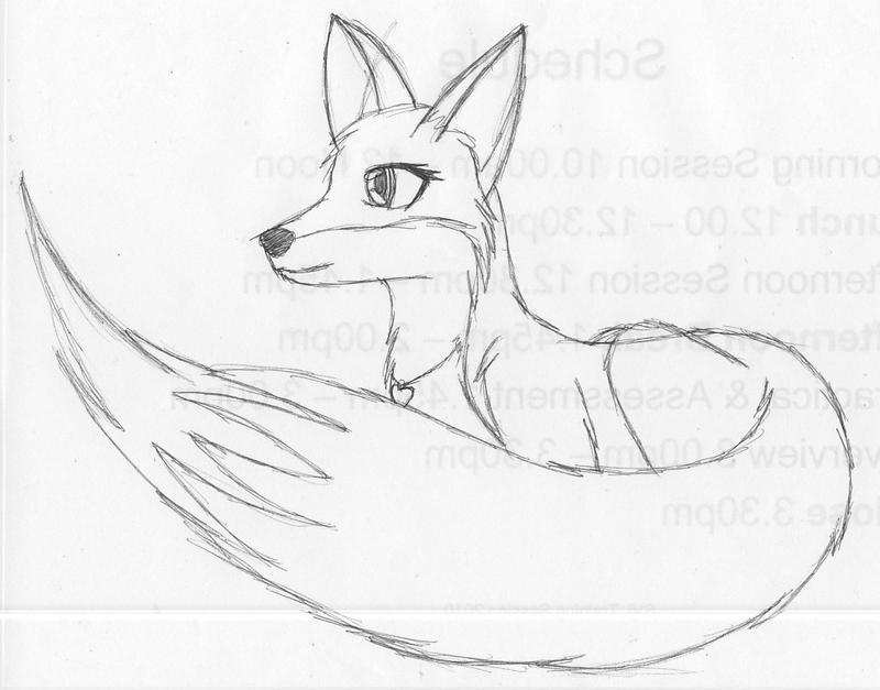 Line Drawing Fox : Pen fox sketch by ranos on deviantart