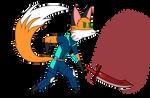 Foxy Chibi: Blade Kitten