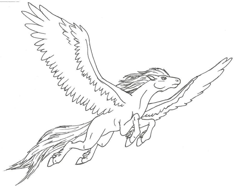 Pegasus flying by Niales4Ever
