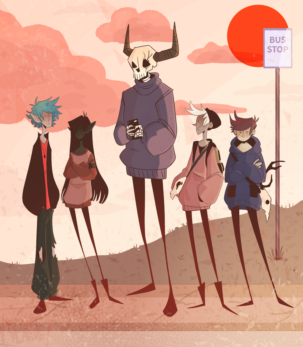 Waiting at the bus stop by plantplague