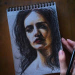 The sketch of Eva Green