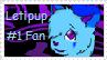 Letipup Fan Stamp by ScottishRedWolf