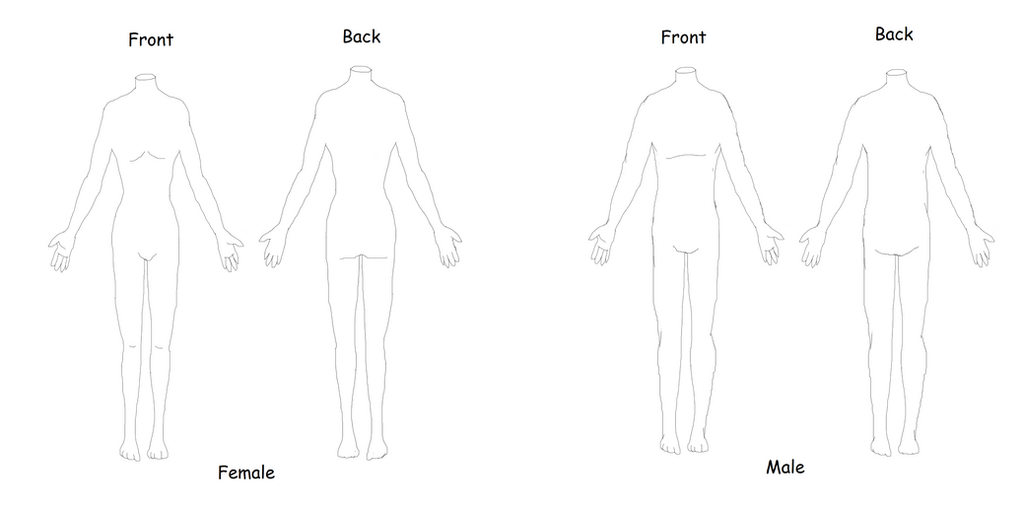 Body Template For Costume Designers By Scottishredwolf On