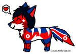 Custom Canine: North Korean Flag themed