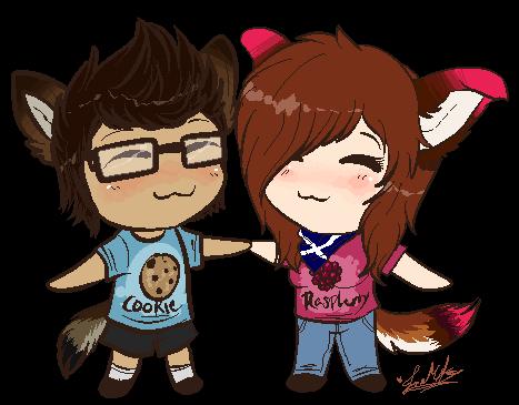 .:GA:. Cookie and Raspberry~ by ScottishRedWolf