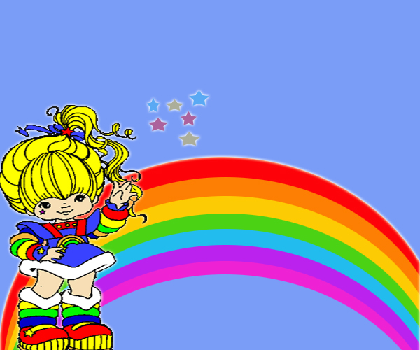 Rainbow Bright Wallpaper Rainbowbrite background byBright Rainbow Wallpaper