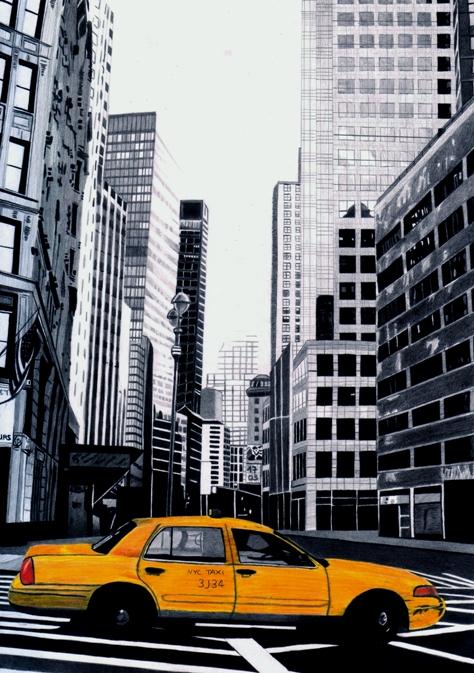 Cartoon Taxi Car Wearing Yellow Cab Stock Vector 359376056 ... |Yellow Taxi Cab Drawing