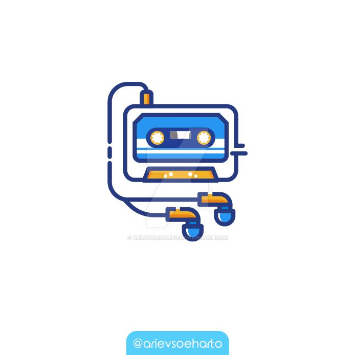 Cassette Illustration by ArievSoeharto