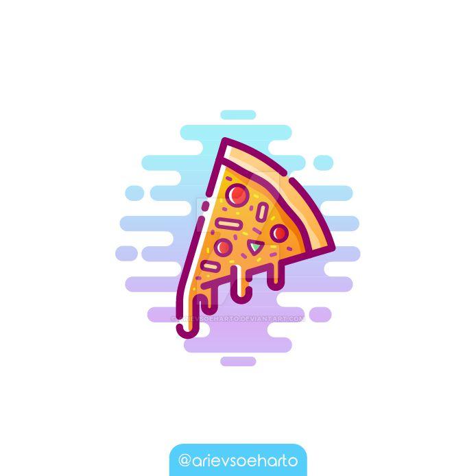 Pizza Illustration by ArievSoeharto