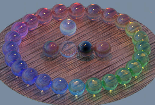 24 hues of optical glass w/ dielectric reflection
