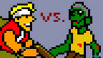 Pixel Metal Slug Marco vs. Zombie by epicyoshi21