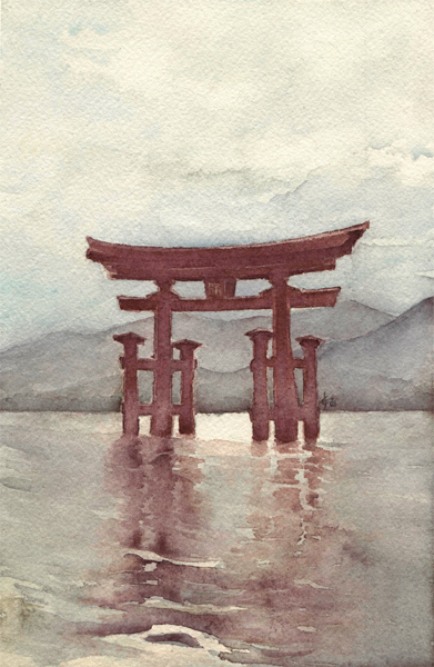 Miyajima. Itsukushima torii by airasan