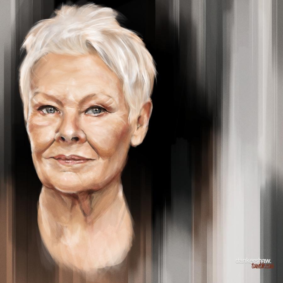 Judi Dench by dankershaw