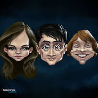 Harry Potter Trio #Caricature by dankershaw