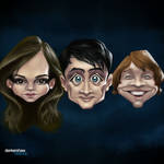 Harry Potter Trio #Caricature