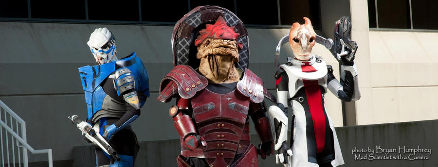 Wrex, Garrus, and Mordin