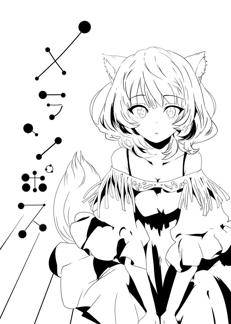 Neko Lineart : Neko girl lineart by miskariot on deviantart