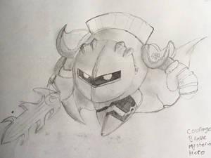 Drawing of Meta Knight