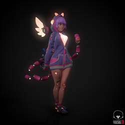 Cyber candy girl