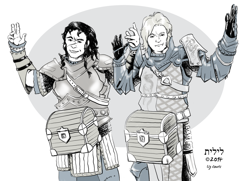 Valeros and Alain Have a Present by lilith-darkmoon