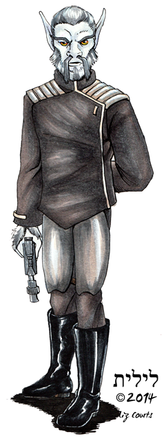 Star Wars Commission: Bothan Officer by lilith-darkmoon