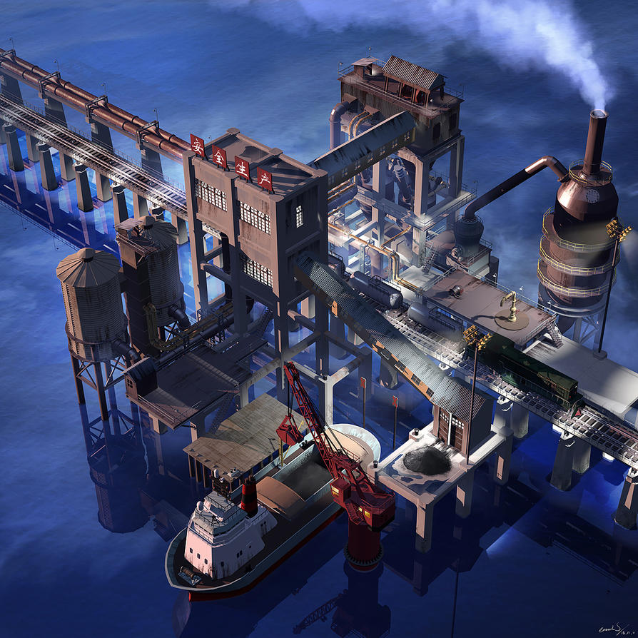 Industrial position on the sea by ennuishao