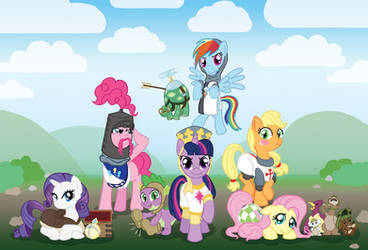 My Little Pony and the Holy Grail - Mane 6 by RunicRhyme