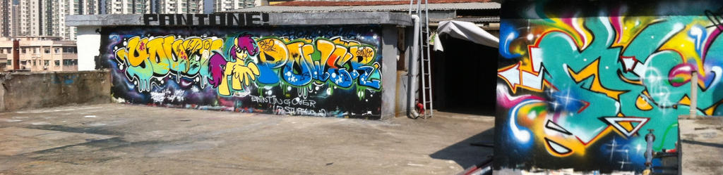 Shared Wall - Hong Kong by anonymousnekodos