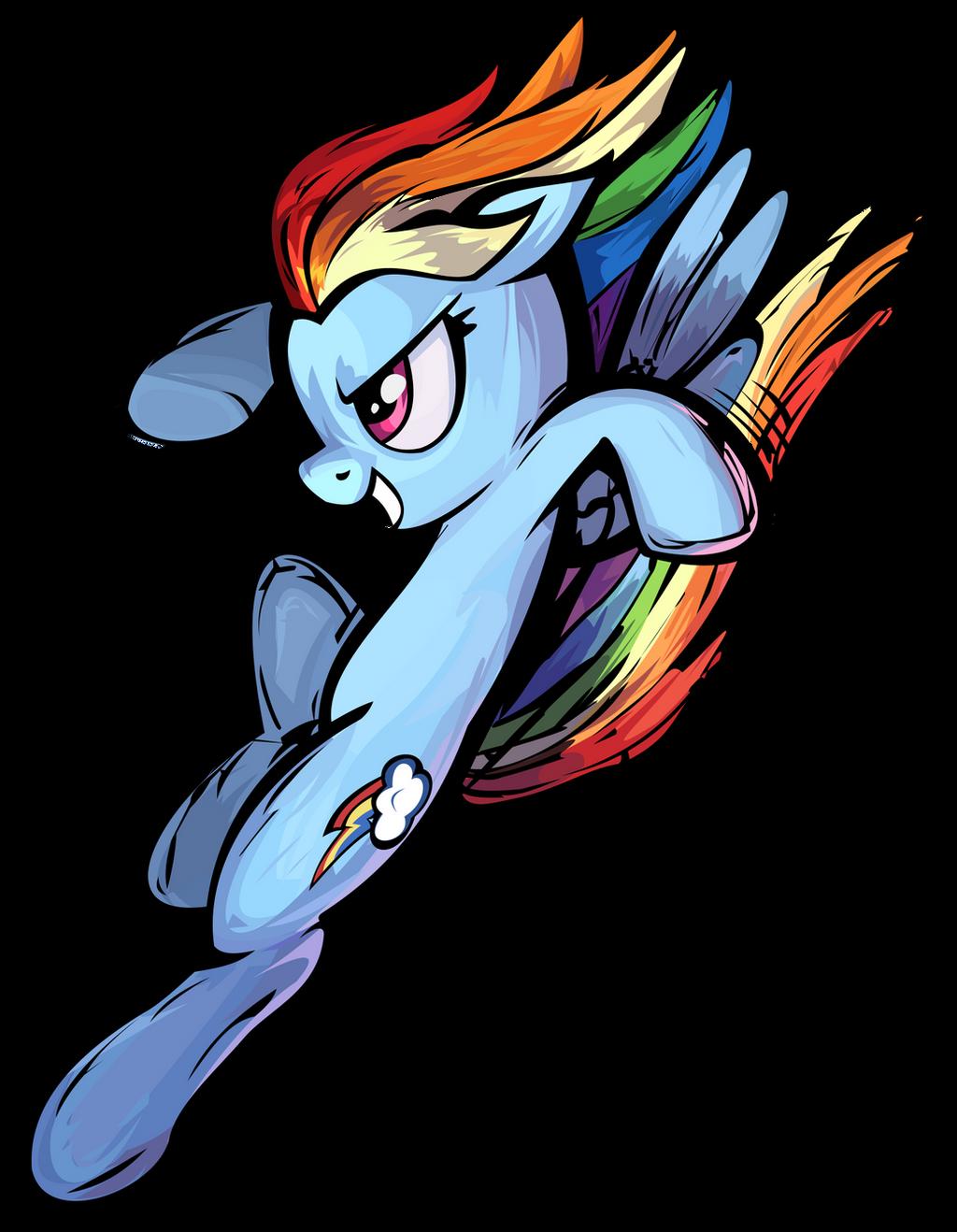 Fighting Is Magic Rainbow Dash Vector