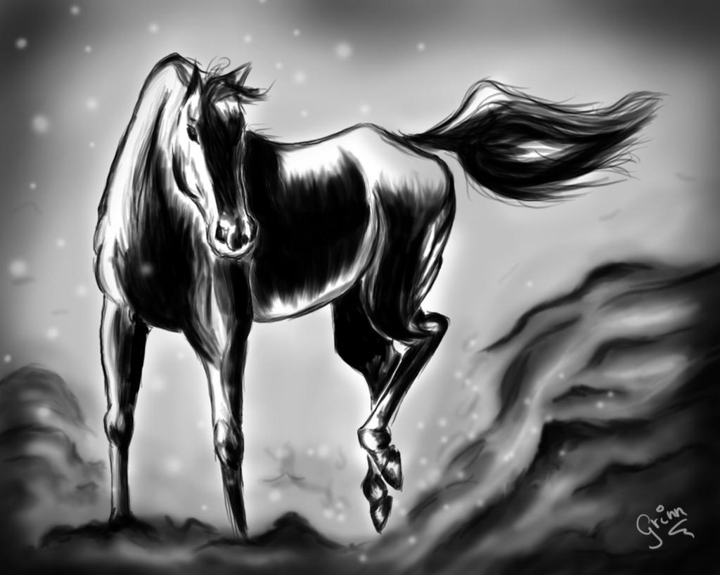 Winter horse by Grinn-Green
