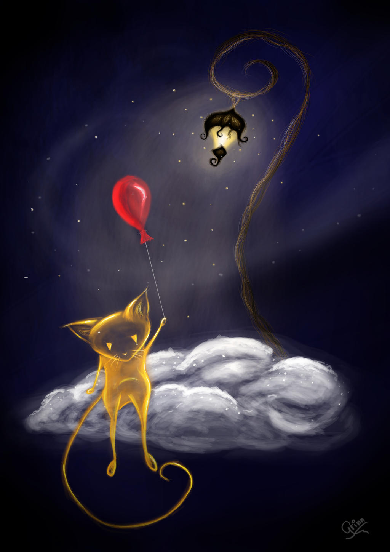 Dreamy Cat by Grinn-Green