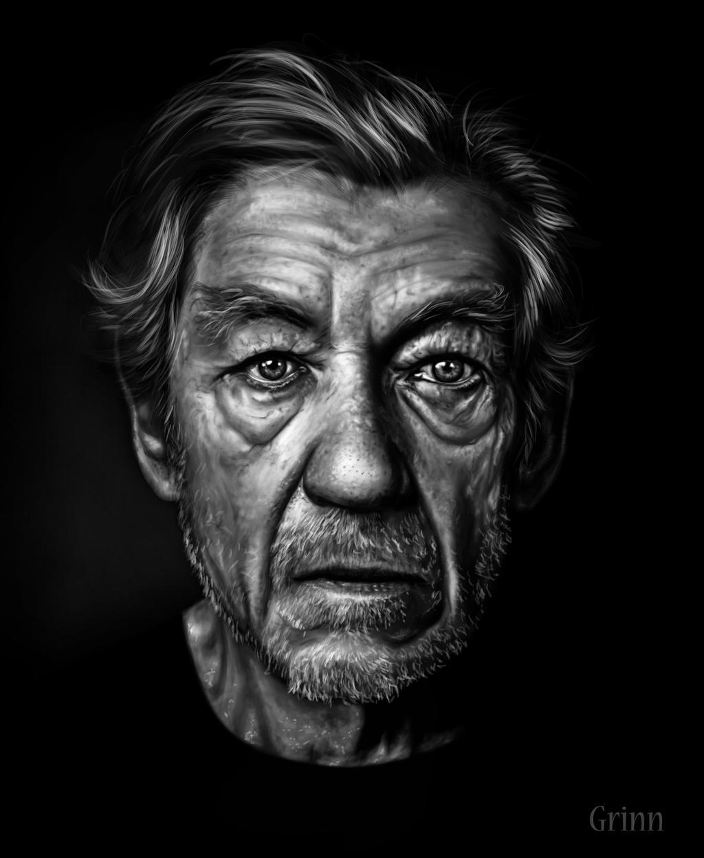 Sir Ian McKellen by Grinn-Green