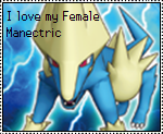 Female Manectric Stamp by OshawottGirl