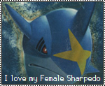 Female Sharpedo Stamp by OshawottGirl