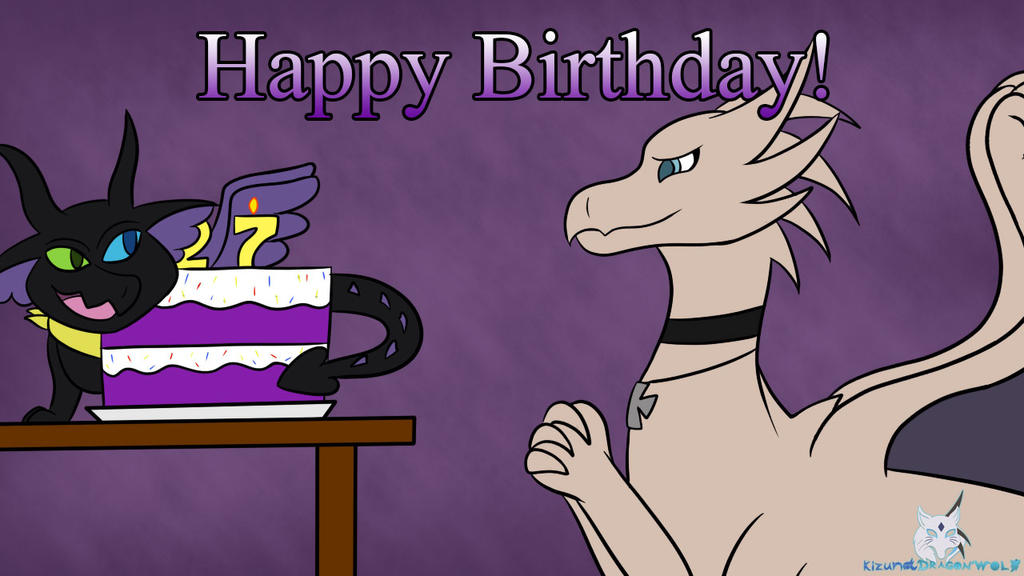 Birthday Gift - TheLeatherDragonI by KizunaDragonWolf