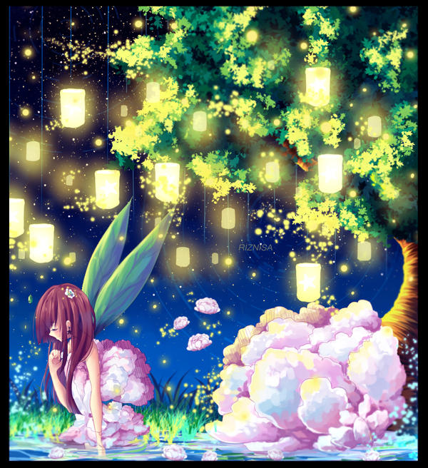 a wonderful luminous night - my Oc by riznisa-san