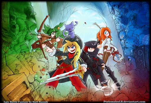 Epic Battle Fantasy 4 - art cover
