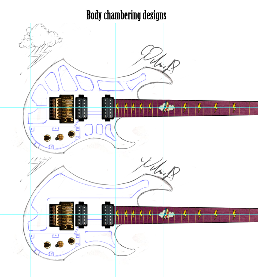 RD guitar proyect design stage: body chambering by PtolemaiosLS