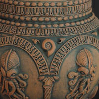 Temple of R'lyeh Cookie Jar - detail by TheTrespasser