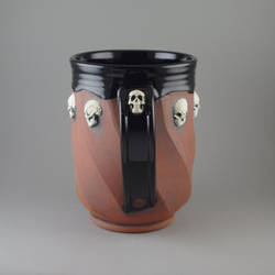 White Skull Beer Mug