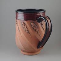 Flaming Skull Beer Mug by TheTrespasser
