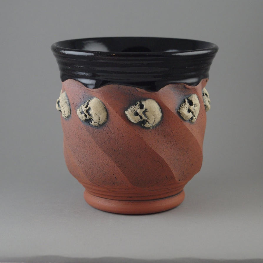 White Skull Beaker by TheTrespasser